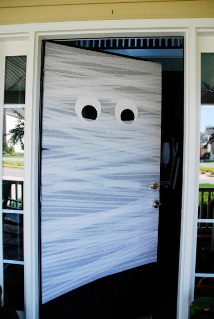 crepe paper mummy door